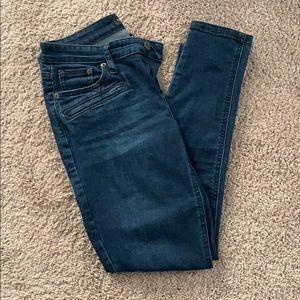 Dark blue banana republic skinny Jean
